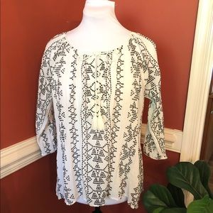 LOFT l Embroidered Top